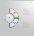 template for infographics with 2 text area vector image vector image
