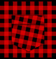 template lumberjack shirt with pocket lumberjack vector image vector image