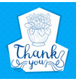 thank you handwritten inscription card vector image vector image