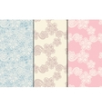 three lacy seamless patterns vector image