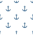 Tile sailor pattern with blue anchor on white vector image