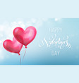 valentines day calligraphy lettering text vector image vector image