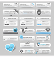 Web design template elements Navigation buttons vector image vector image