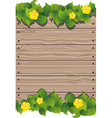 Yellow flowers and fence vector image