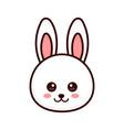 cute bunny rabbit face modern vector image