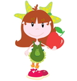 Cute girl with an apple vector image