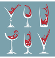 drinking glass collection vector image