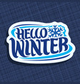 logo for winter vector image