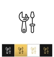 Tools logo or industrial utilities icon vector image