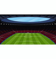 a huge empty soccer stadium vector image vector image