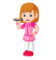 a singing girl vector image vector image