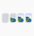 airplane window porthole stock summer travels vector image vector image