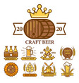 beer house and craft brewery logo set nine vector image vector image