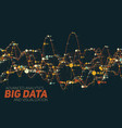 big data line graph colorful vector image