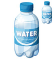 bottle water cartoon icon isolated on vector image