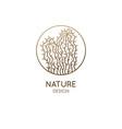 cactus logo template emblem home plant vector image