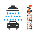 car shower icon with lovely bonus vector image