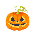 cartoon style halloween pumpkin vector image vector image