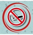 cigarette prohibited danger icon vector image