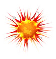 comic firebomb explosion vector image vector image