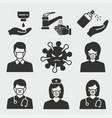 coronavirus icon set isolated vector image vector image