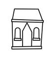cottage home village architecture cartoon icon vector image