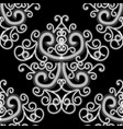 creative abstract black and white seamless pattern vector image