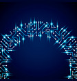 digital technology background with circuit board vector image vector image