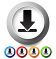 download buttons or icons editable vector image