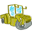 drawn asphalt spreader vector image vector image
