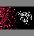 falling hearts on transparent background with vector image vector image