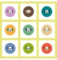 flat icons Halloween set of clown skull concept on vector image vector image