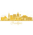 frankfort kentucky usa city skyline silhouette vector image vector image