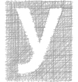 Freehand Typography Letter y vector image vector image