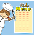 girl chef card vector image vector image