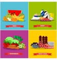 Healthy food poster in flat style design vector image vector image