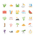icons collection ocean and sea life vector image
