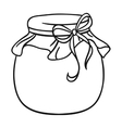 Jar of honey icon in outline style isolated on vector image vector image