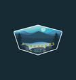 landscape logo design badge vector image