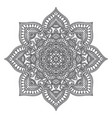 mandala circle ethnic ornament hand drawn vector image