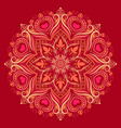 mandala pattern with hearts in colorful ornament vector image