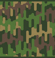 military background army pattern hunter texture vector image vector image