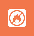 not fire icon sign symbol vector image vector image