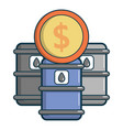oil barrels with dollar sign icon cartoon style vector image vector image