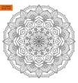 Outline Mandala Flower for Coloring Book vector image
