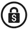 pay lock rounded icon rubber stamp vector image