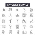 payment service line icons signs set vector image vector image