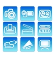 Photo video icons vector image