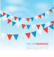 red blue bunting vector image vector image