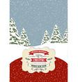 Retro Christmas card format 7 inch5 inch vector image vector image